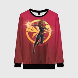 Свитшот женский Captain Marvel цвета 3D-черный — фото 1