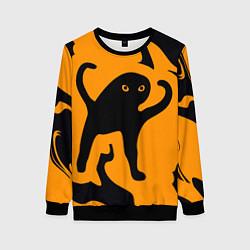 Свитшот женский Кот- мем цвета 3D-черный — фото 1