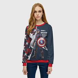 Свитшот женский Marvel Капитан Америка цвета 3D-красный — фото 2