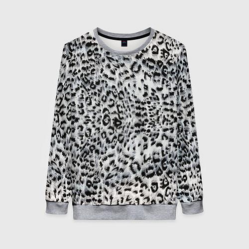 Женский свитшот White Jaguar / 3D-Меланж – фото 1