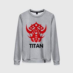 Свитшот хлопковый женский Orc Fighter - Titan цвета меланж — фото 1
