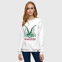 Свитшот хлопковый женский Orc Mage - Warcryer цвета белый — фото 2