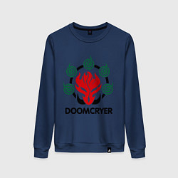 Свитшот хлопковый женский Orc Mage - Doomcryer цвета тёмно-синий — фото 1