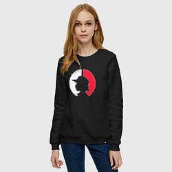 Свитшот хлопковый женский Эш: ловец покемонов цвета черный — фото 2
