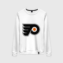 Свитшот хлопковый женский Philadelphia Flyers цвета белый — фото 1
