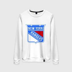 Свитшот хлопковый женский New York Rangers цвета белый — фото 1