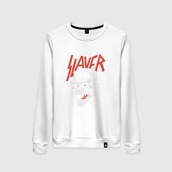 Свитшот хлопковый женский Slayer: Rage Soldier цвета белый — фото 1