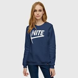 Свитшот хлопковый женский Fortnite цвета тёмно-синий — фото 2
