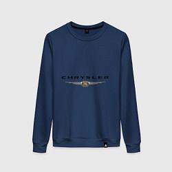 Свитшот хлопковый женский Chrysler logo цвета тёмно-синий — фото 1