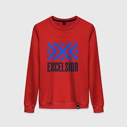 Свитшот хлопковый женский New York Excelsior цвета красный — фото 1