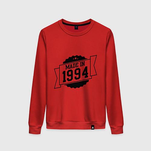 Женский свитшот Made in 1994 / Красный – фото 1