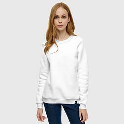 Свитшот хлопковый женский Hope Count цвета белый — фото 2
