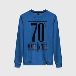 Свитшот хлопковый женский Made in the 70s цвета синий — фото 1