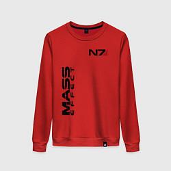Свитшот хлопковый женский MASS EFFECT N7 цвета красный — фото 1