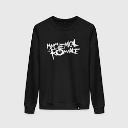 Свитшот хлопковый женский My Chemical Romance spider на спине цвета черный — фото 1