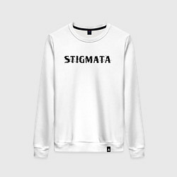 Свитшот хлопковый женский Stigmata цвета белый — фото 1