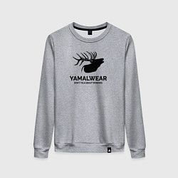 Свитшот хлопковый женский Yamalwear цвета меланж — фото 1