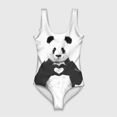 Женский купальник-боди Panda Love / 3D – фото 1