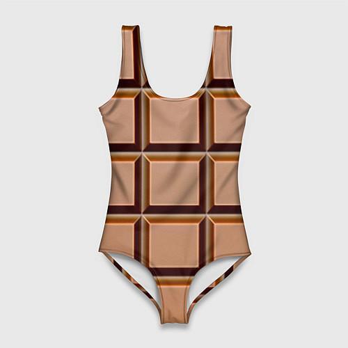 Женский купальник-боди Шоколад / 3D – фото 1