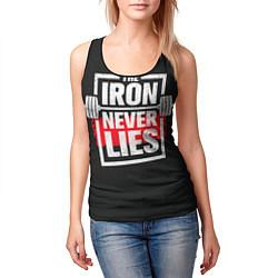 Майка-безрукавка женская The iron never lies цвета 3D-черный — фото 2