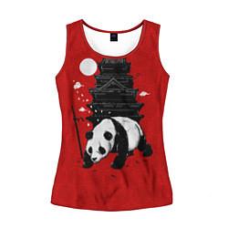 Майка-безрукавка женская Panda Warrior цвета 3D-красный — фото 1