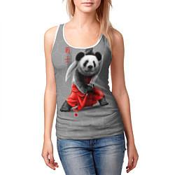 Майка-безрукавка женская Master Panda цвета 3D-белый — фото 2