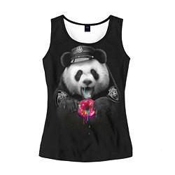 Майка-безрукавка женская Donut Panda цвета 3D-черный — фото 1