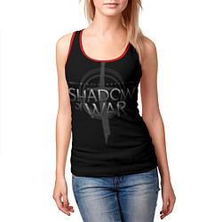 Майка-безрукавка женская Shadow of War цвета 3D-красный — фото 2
