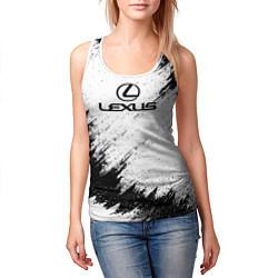 Майка-безрукавка женская Lexus: Black Breaks цвета 3D-белый — фото 2