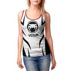 Майка-безрукавка женская Venum спина цвета 3D-красный — фото 2