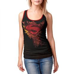 Майка-безрукавка женская Superman цвета 3D-красный — фото 2