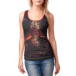 Майка-безрукавка женская Oxxxymiron: Горгород цвета 3D-красный — фото 2