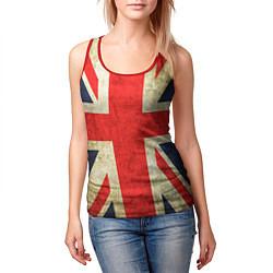 Майка-безрукавка женская Великобритания цвета 3D-красный — фото 2