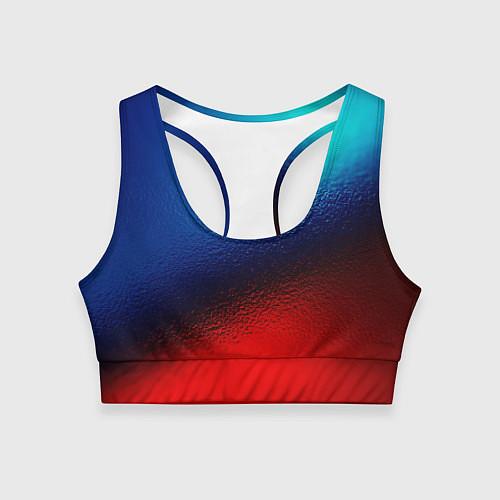Женский спортивный топ Синий и красный / 3D – фото 1