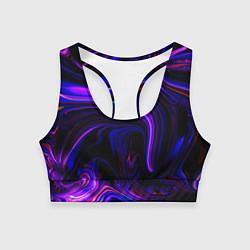 Топик спортивный женский Цветные разводы цвета 3D — фото 1