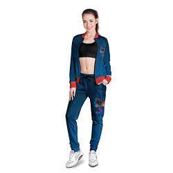 Олимпийка женская Вижен цвета 3D-красный — фото 2