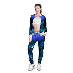 Олимпийка женская Сова цвета 3D-белый — фото 2