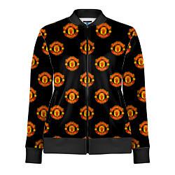 Олимпийка женская Manchester United Pattern цвета 3D-черный — фото 1
