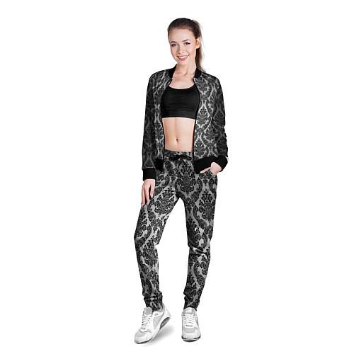 Женская олимпийка Гламурный узор / 3D-Черный – фото 3
