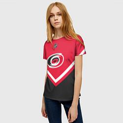 Футболка женская NHL: Carolina Hurricanes цвета 3D — фото 2
