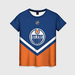 Футболка женская NHL: Edmonton Oilers цвета 3D-принт — фото 1