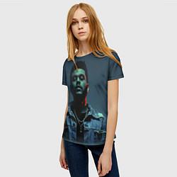 Футболка женская The Weeknd цвета 3D-принт — фото 2