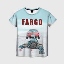 Футболка женская Fargo Racing цвета 3D — фото 1