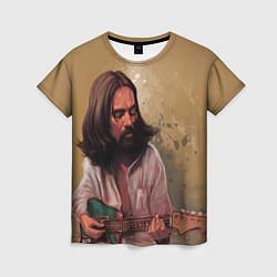 Футболка женская George Harrison: Guitarist цвета 3D-принт — фото 1