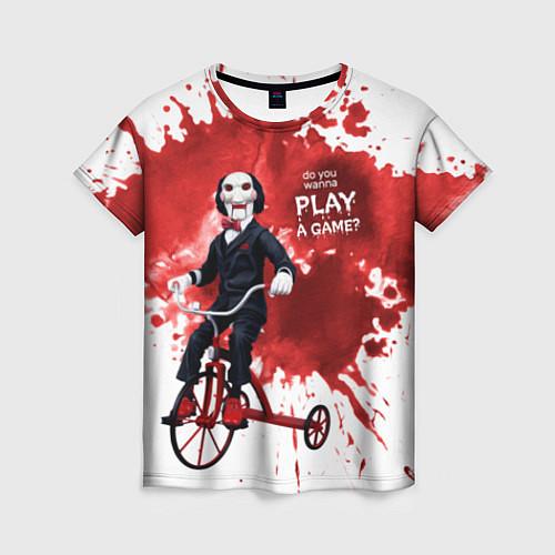 Женская футболка Play a game? / 3D – фото 1