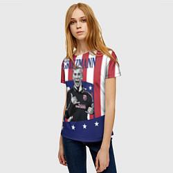 Футболка женская Griezmann: Atletico Star цвета 3D-принт — фото 2