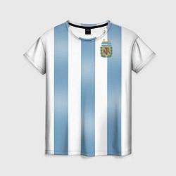 Футболка женская Сборная Аргентины: ЧМ-2018 цвета 3D-принт — фото 1