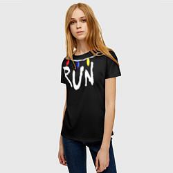 Футболка женская Stranger Things RUN цвета 3D — фото 2