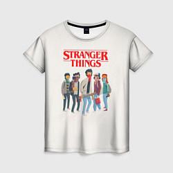 Футболка женская Stranger Things Friends цвета 3D — фото 1