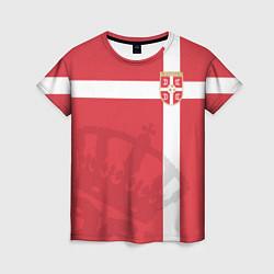 Футболка женская Сборная Сербии цвета 3D — фото 1